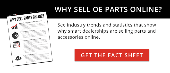 9 Reasons to Sell OE Parts Online - fact sheet download