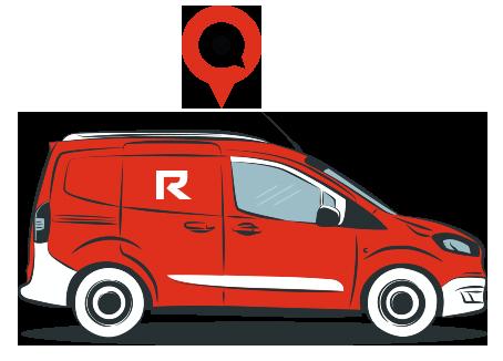 Auto Parts Delivery Car