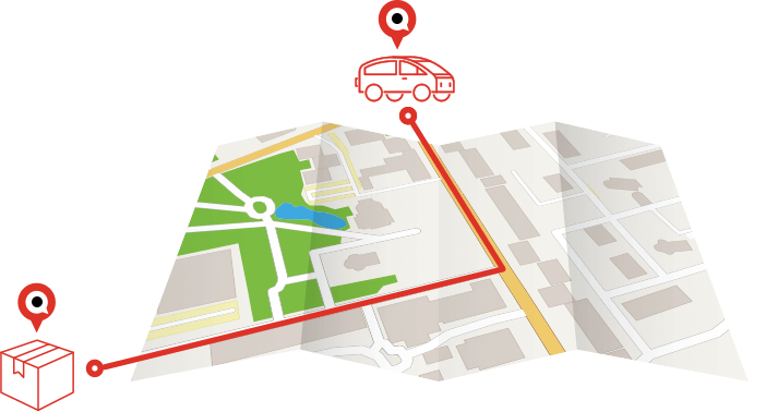 Auto Parts Delivery Map