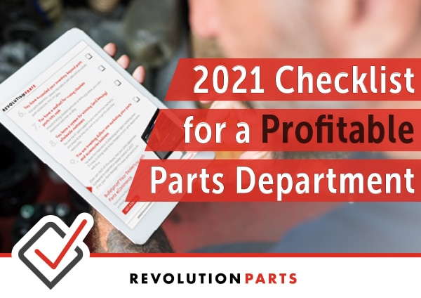 2021 Checklist for a Profitable Parts Department