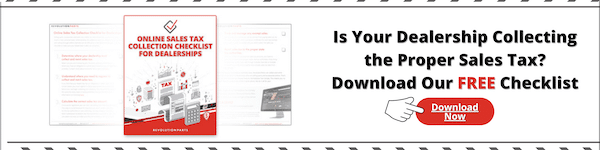 online sales tax checklist banner for compliance on ecommerce